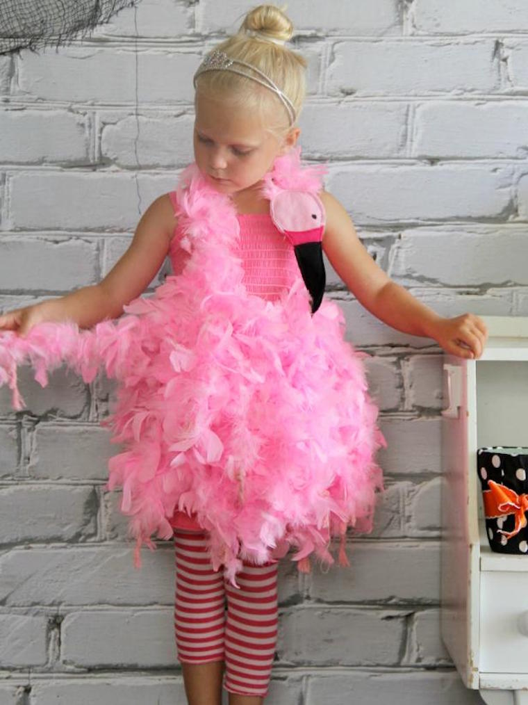 Pink Flamingo Halloween Costume DIY