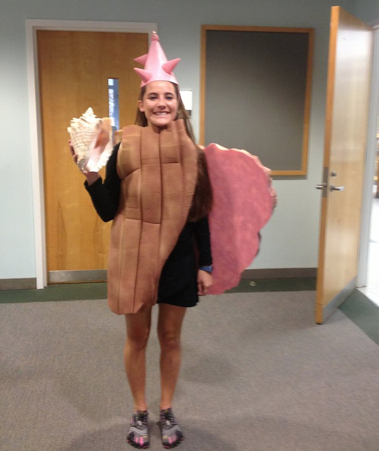 Conch shell Halloween costume
