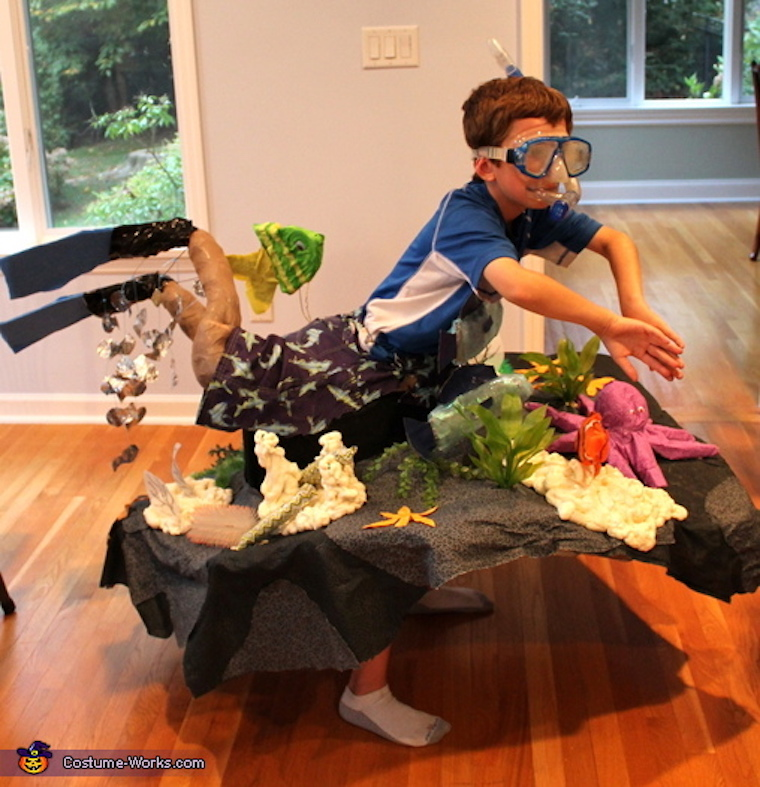 Snorkeler on coral Reef Halloween costume