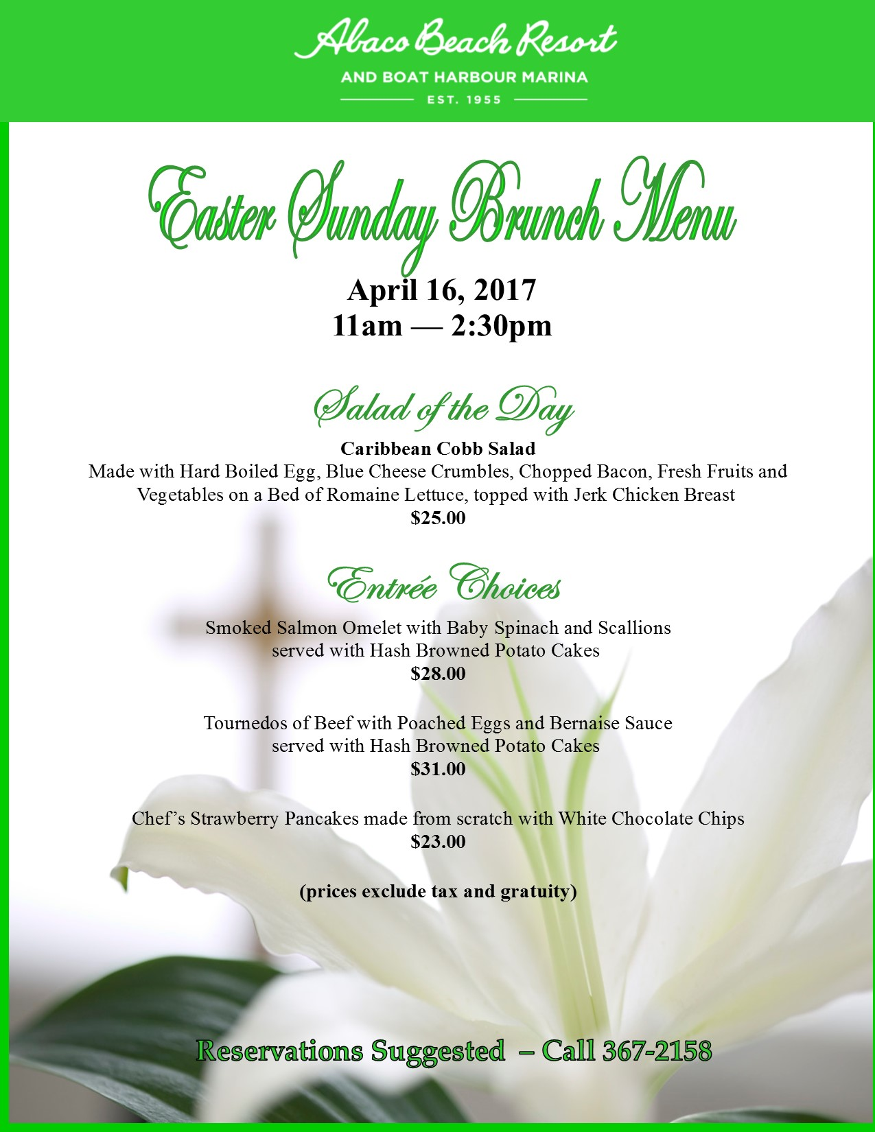 Abaco Easter Sunday Brunch