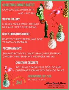 Abaco Christmas Dinner Menu